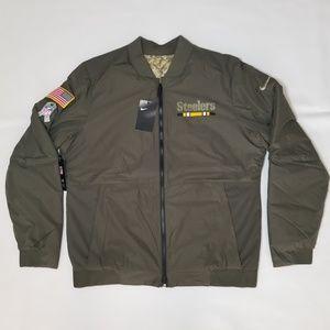 Pittsburgh Steelers Nike Men's Bomber Jacket SZ L